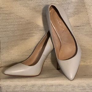 Aldo Cream Leather Heels